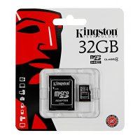 KINGSTON SECURE DIGITAL SDHC MICRO SDC4 32GB + adapter SD