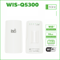 Wisnetworks WIS-Q5300 Hi-Power Outdoor WISP bridge CPE 5ghz 300mbps 1 Gigabit
